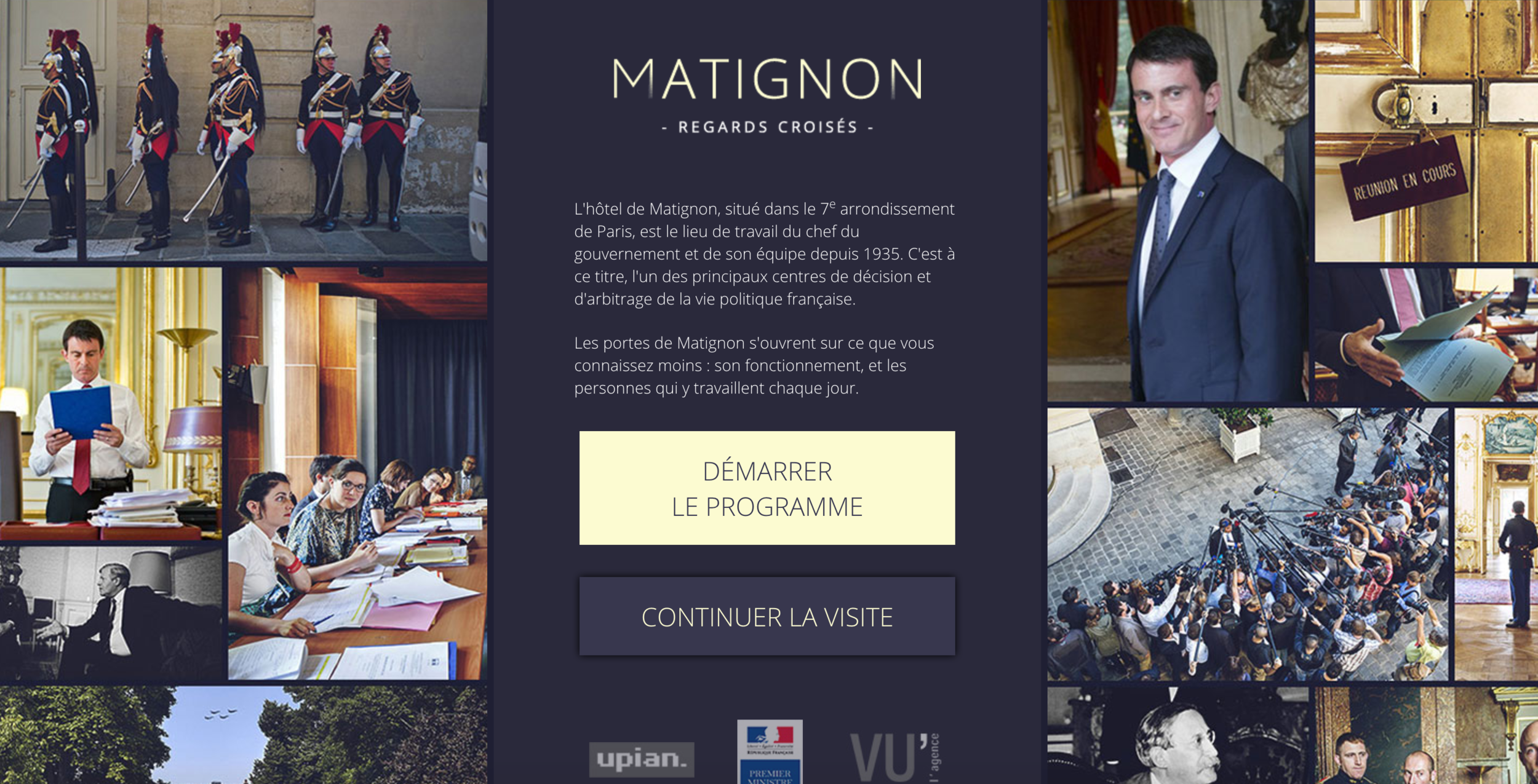 Web documentary on The Hôtel Matignon is the official residence of the Prime Minister of France For the french government.