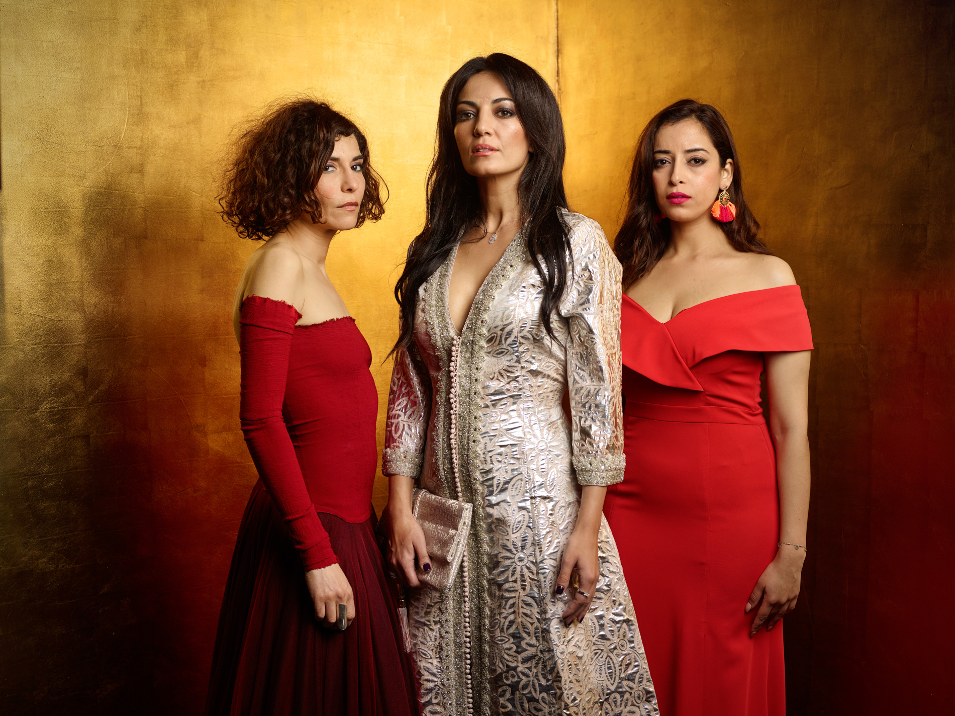 From left: Lubna Azabal (actress), Maryam Touzani (director) and Nissin Erradi (actress)