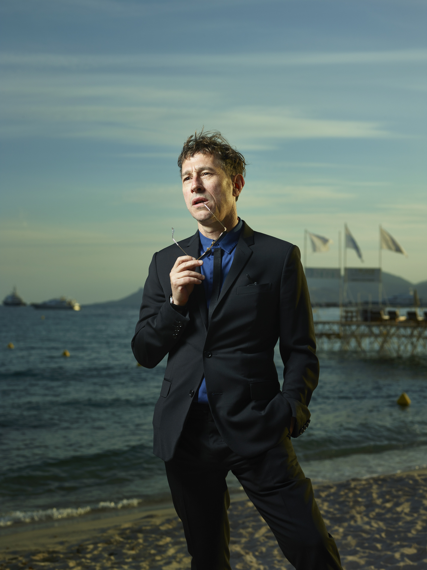 Director Bertrand Bonello in Cannes for Le Monde