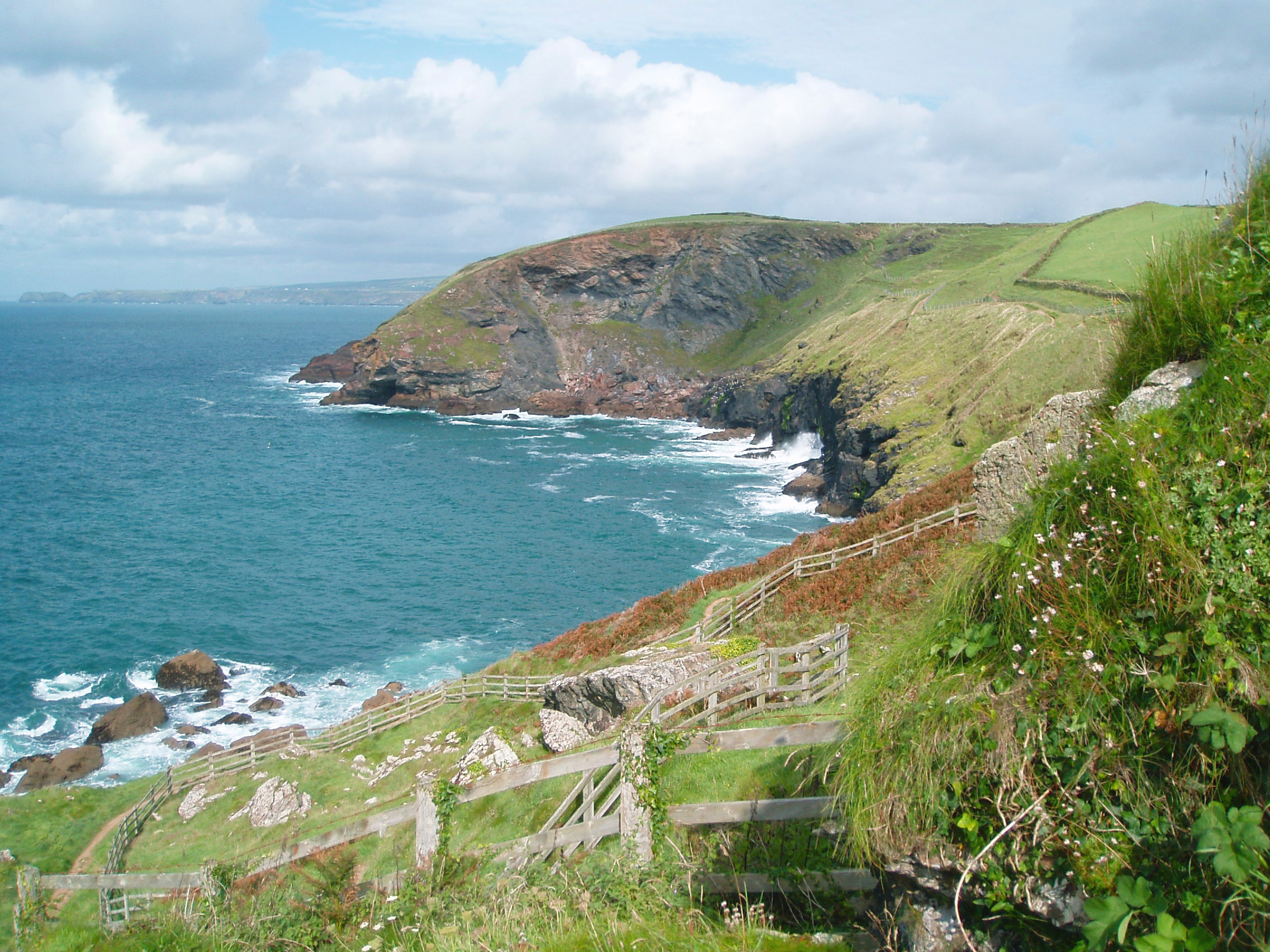 Port Gaverne to Port Quin. It's not flat, but it's worth the effort...