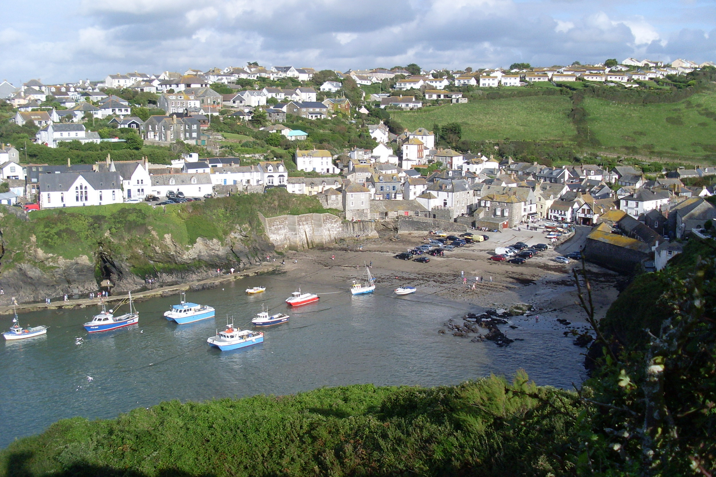 Port Isaac. The neighbouring village, it's just a few minutes' walk away