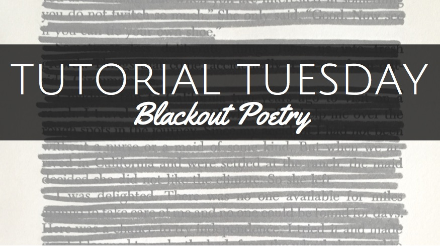 Tutorial Tuesday Altered Book Blackout Poetry Adele Stuckey ATR