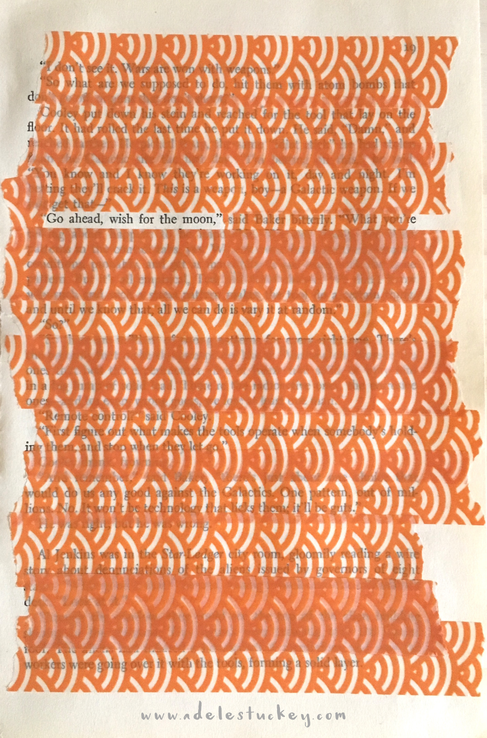washi orange blackout poetry adele stuckey atr