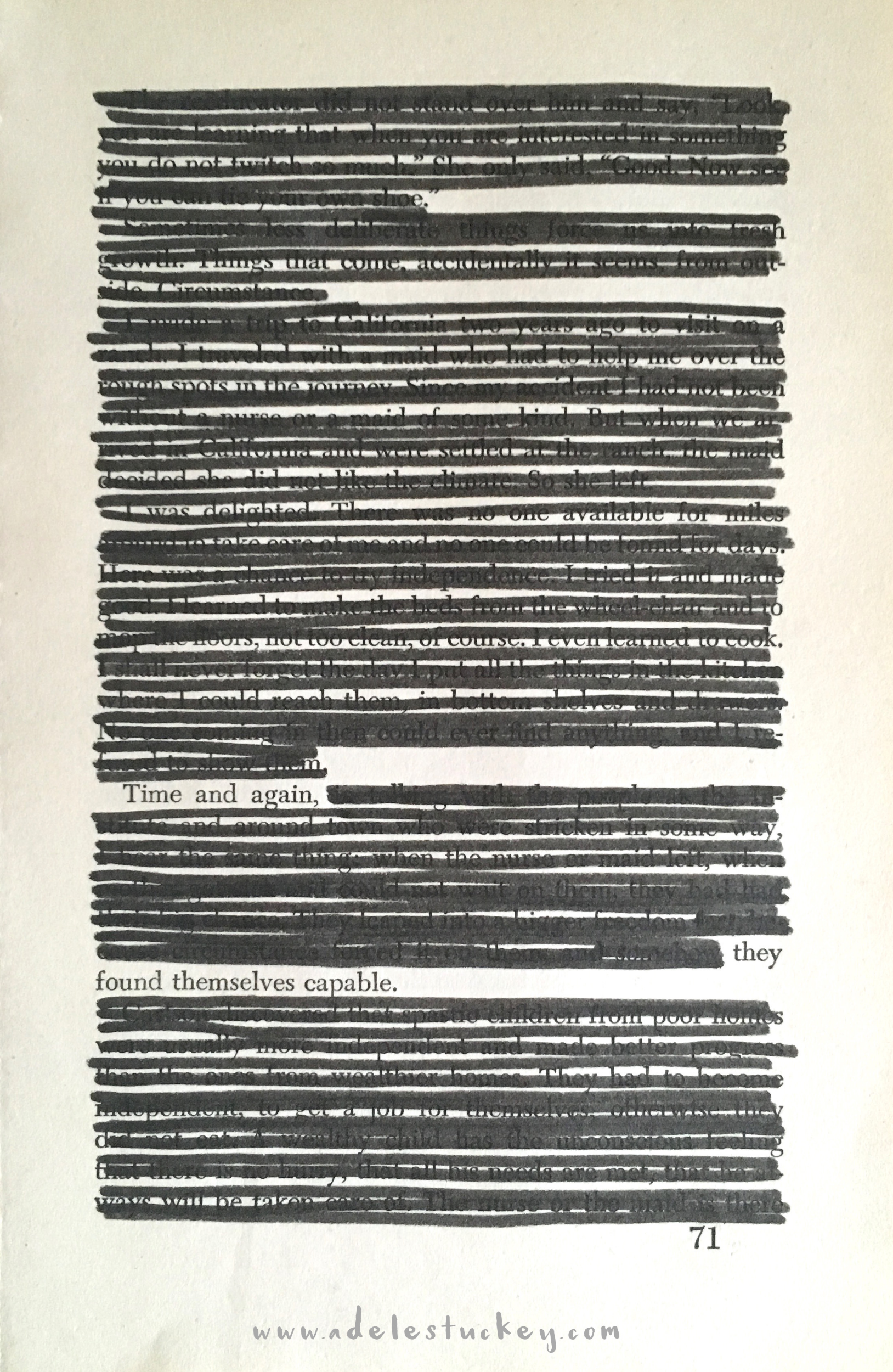traditional blackout poetry adele stuckey atr