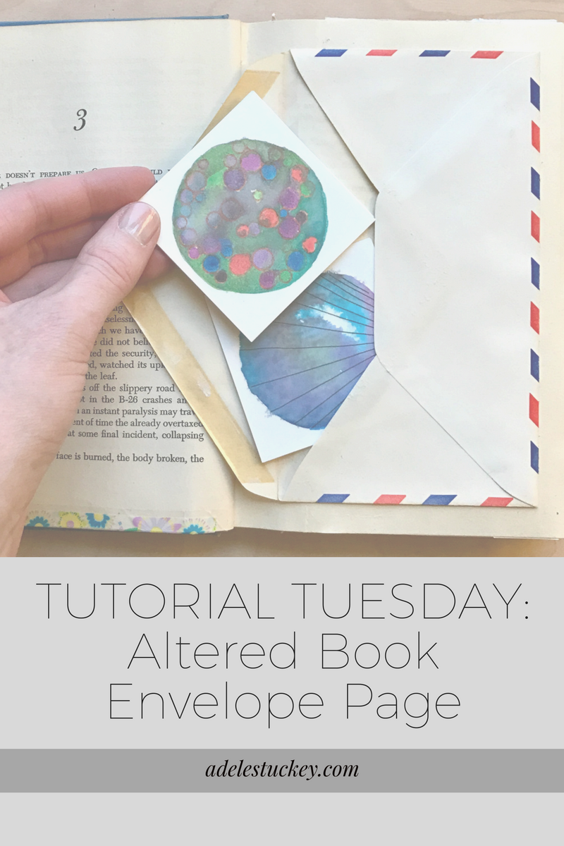 Altered Book Envelop Page