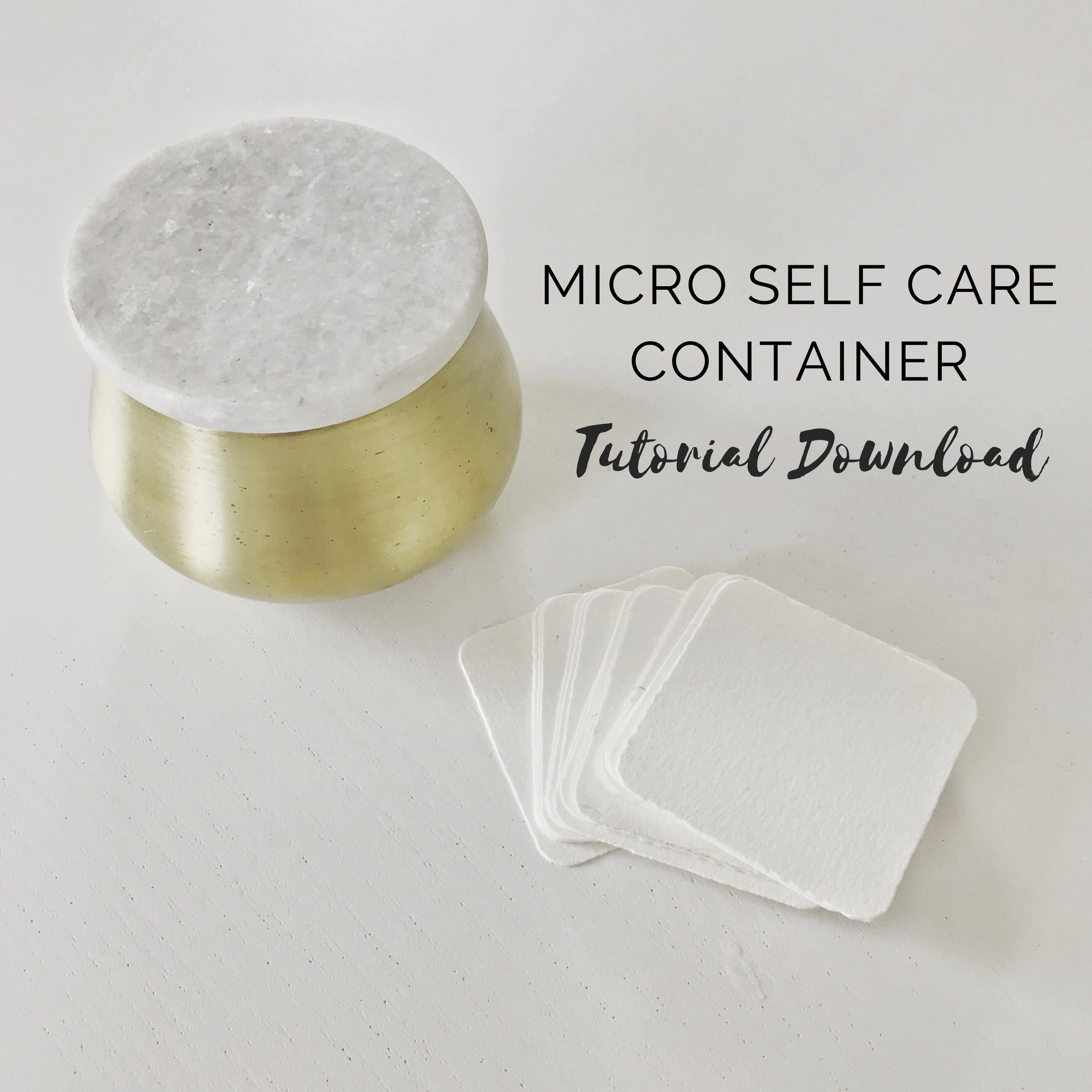 alexandria art therapy self care container tutorial