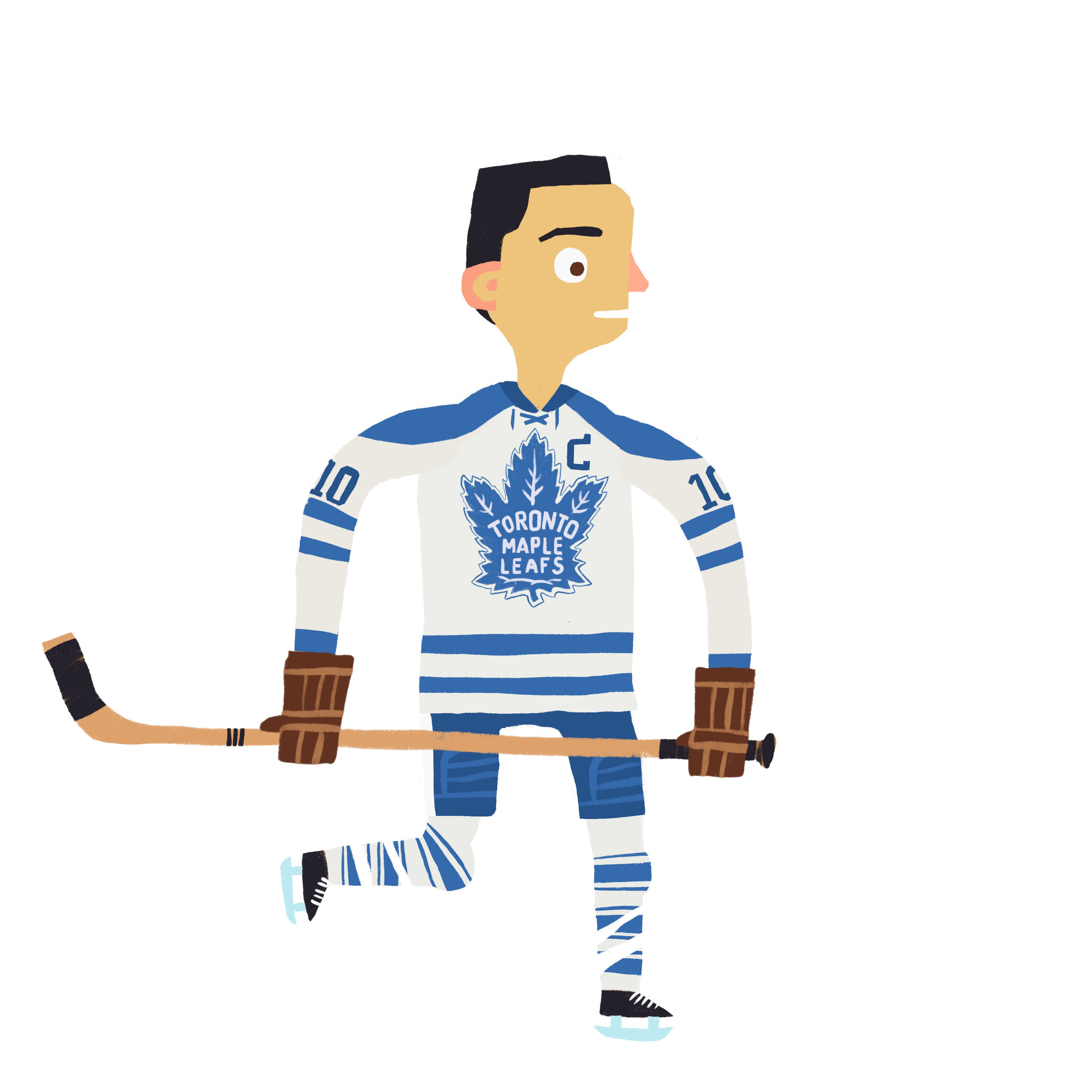 """GEORGE EDWARD """"CHEIF"""" ARMSTRONG Toronto Maple Leafs (1949-50, 1951-71)"""