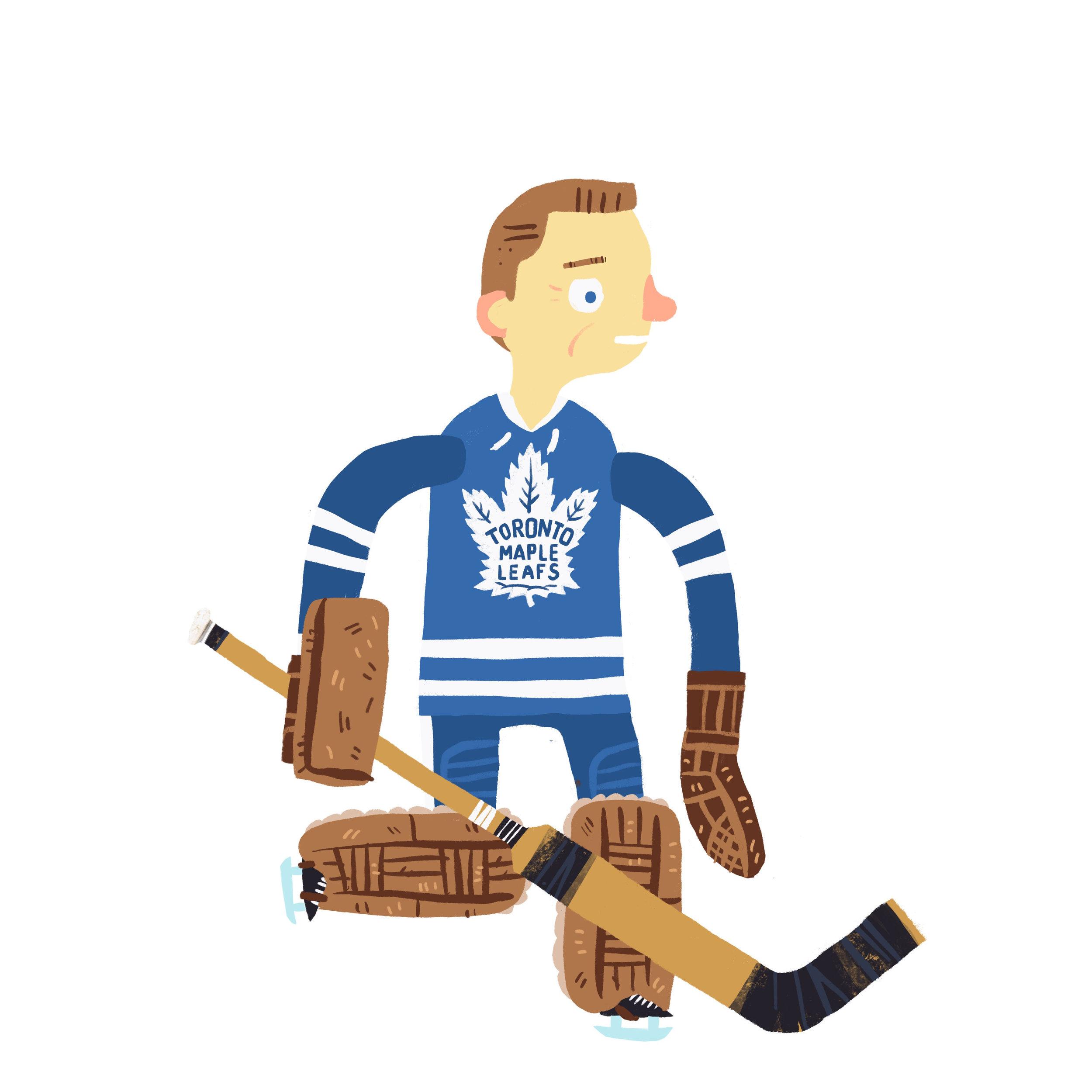"JOHN WILLIAM BOWER ""THE CHINA WALL"", b. Prince Albert, SK Toronto Maple Leafs (1958-70)"