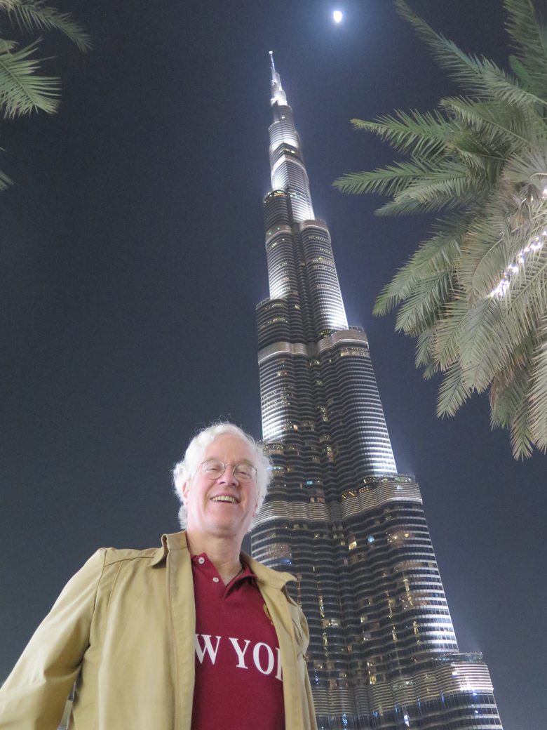 Me in front of the Armani Tower in Dubai a few hours ago...