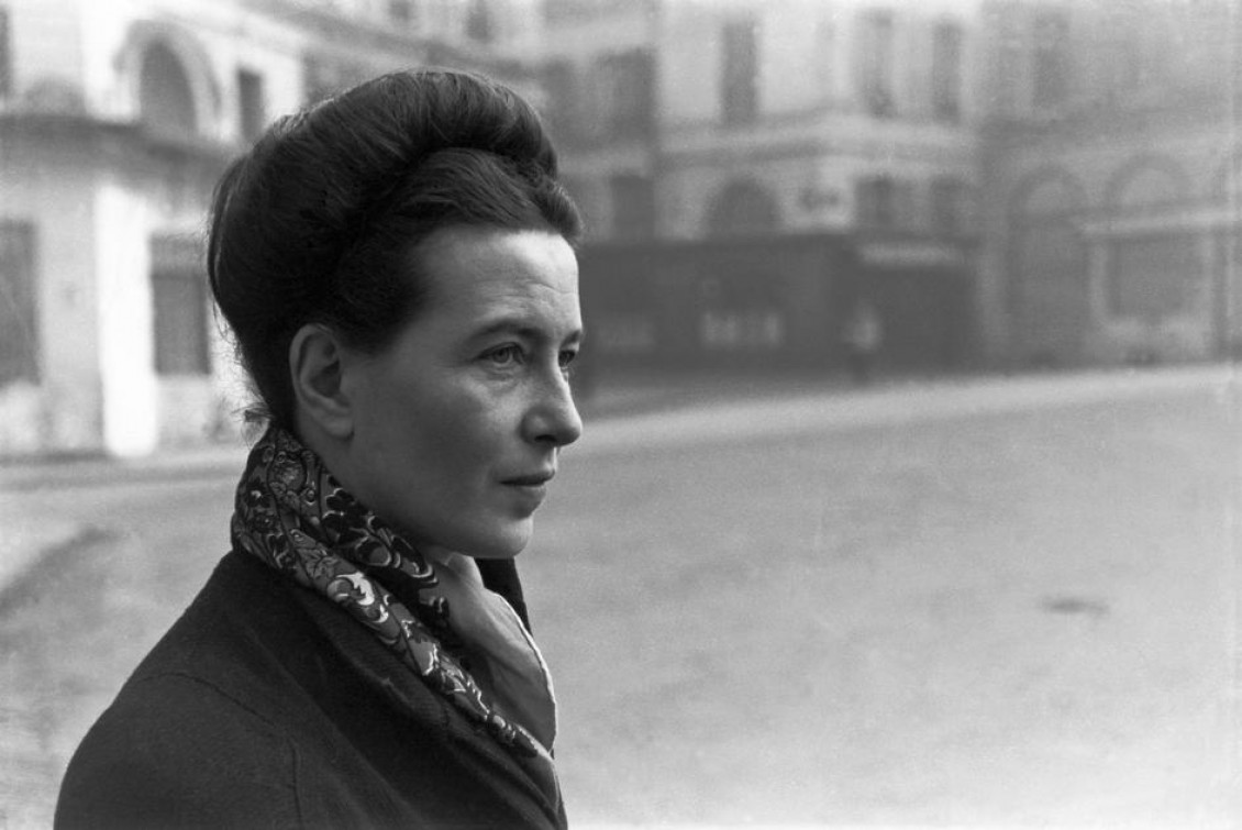 """""""No one is more arrogant toward women, more aggressive or scornful, than the man who is anxious about his virility."""" - Simone de Beauvoir, pictured in1986"""