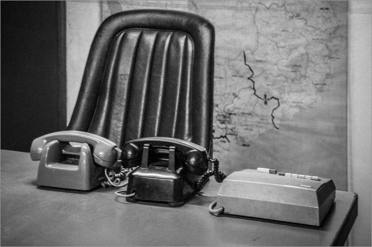 Desk at the Museum of War, Saigon, Vietnam