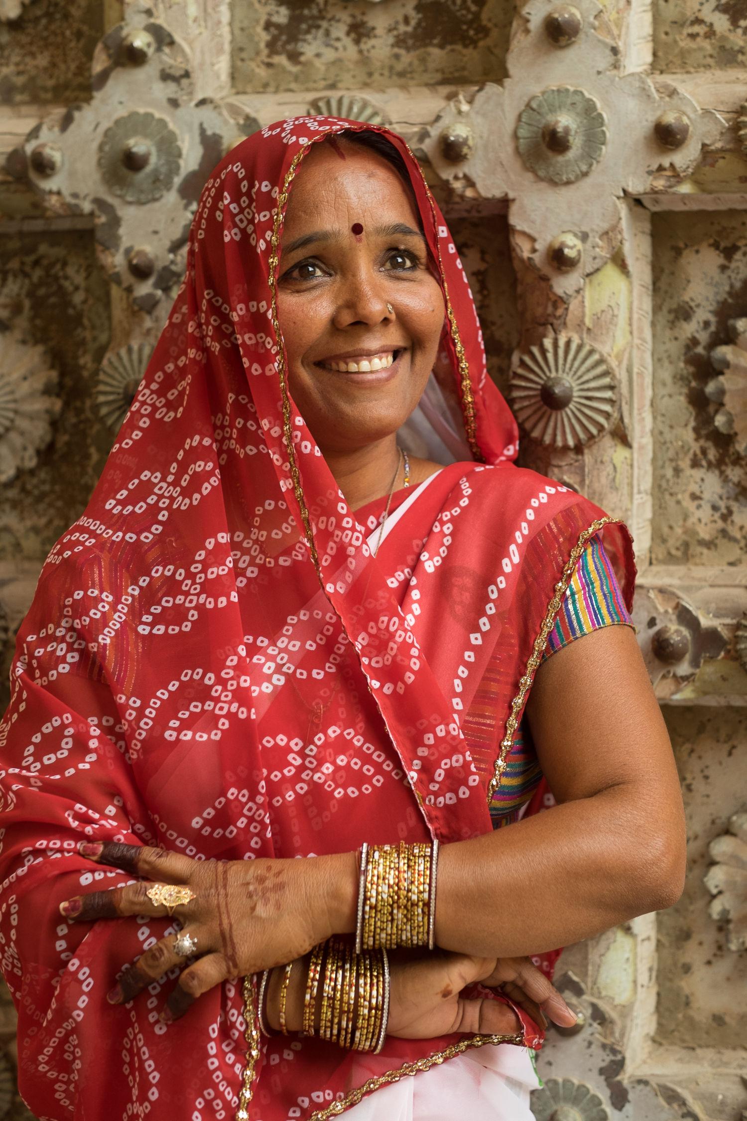 Woman at Jaipur fort