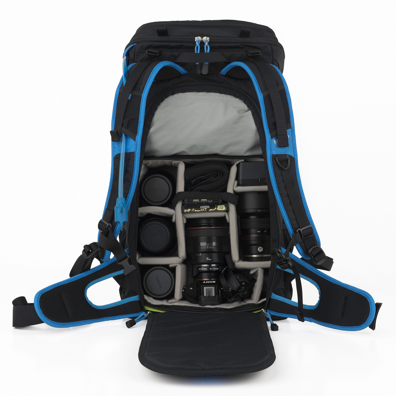 I really like the concept of an outer shell, in which you put an ICU of your choice, depending on the job or the hike (and gear requirements) at hand. There are straps on the side to fit a travel-sized tripod or a small light stand such as the Manfrotto Nano.