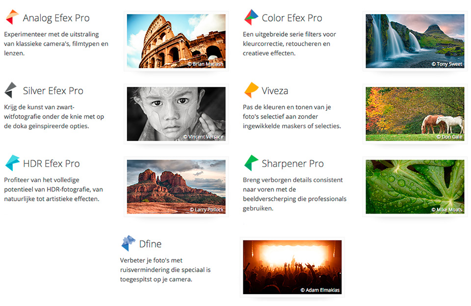 The best Nik plug-ins are the creative ones: Viveza, Silver Efex, Color Efex, HDR Efex and Analog Efex.