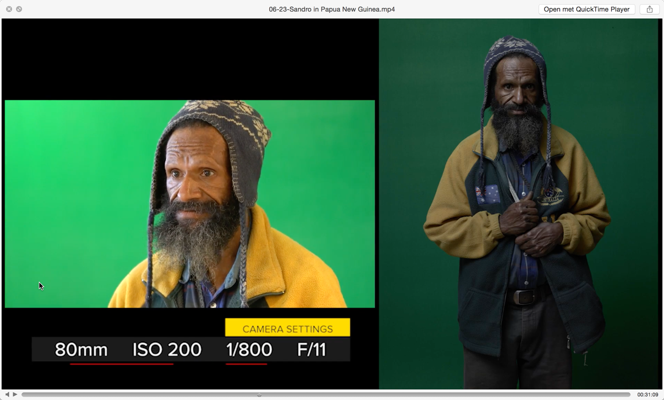 The setup (left) and the resulting raw file (right). Sandro used a digital Hasselblad on this shoot so he has virtually unlimited postprocessing options in terms of recovery and dynamic range.