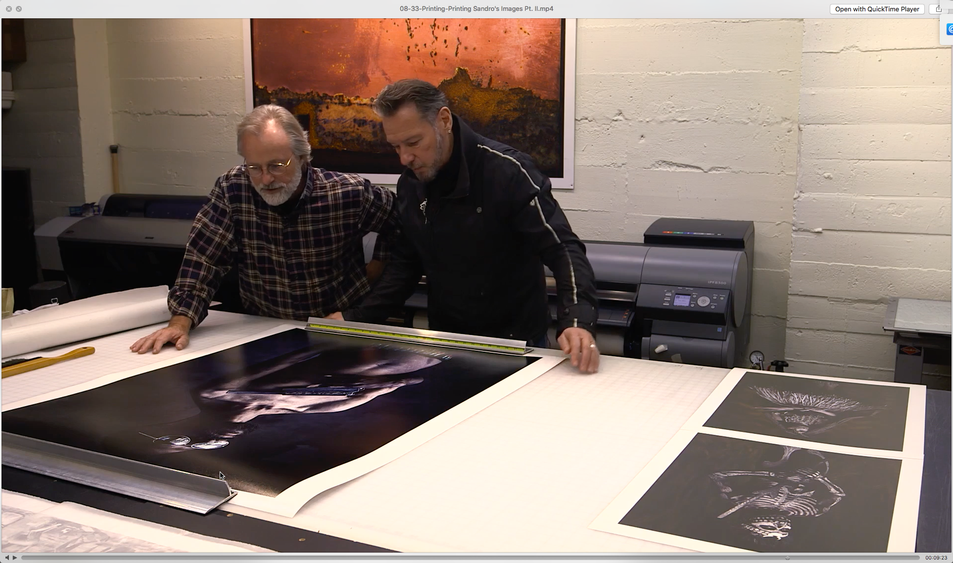 Sandro and Jon inspecting a large format print. As an interesting side-note, this image, which was shot with available light and was not composited, is one of my favorite images of the entire series.