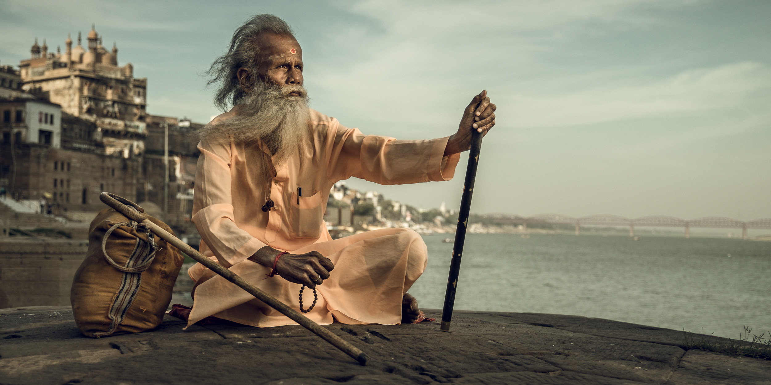 Sadhu overlooking the Ganges