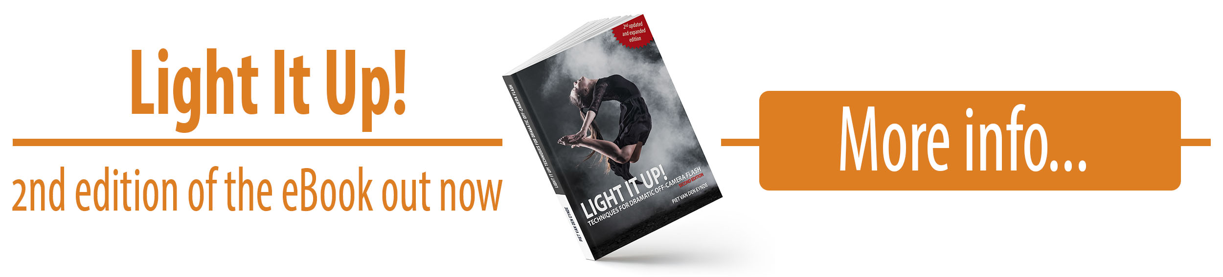 The essential guide to working with small and big flashes on location.  This ebook  will show you all you need to know to create killer flash images.