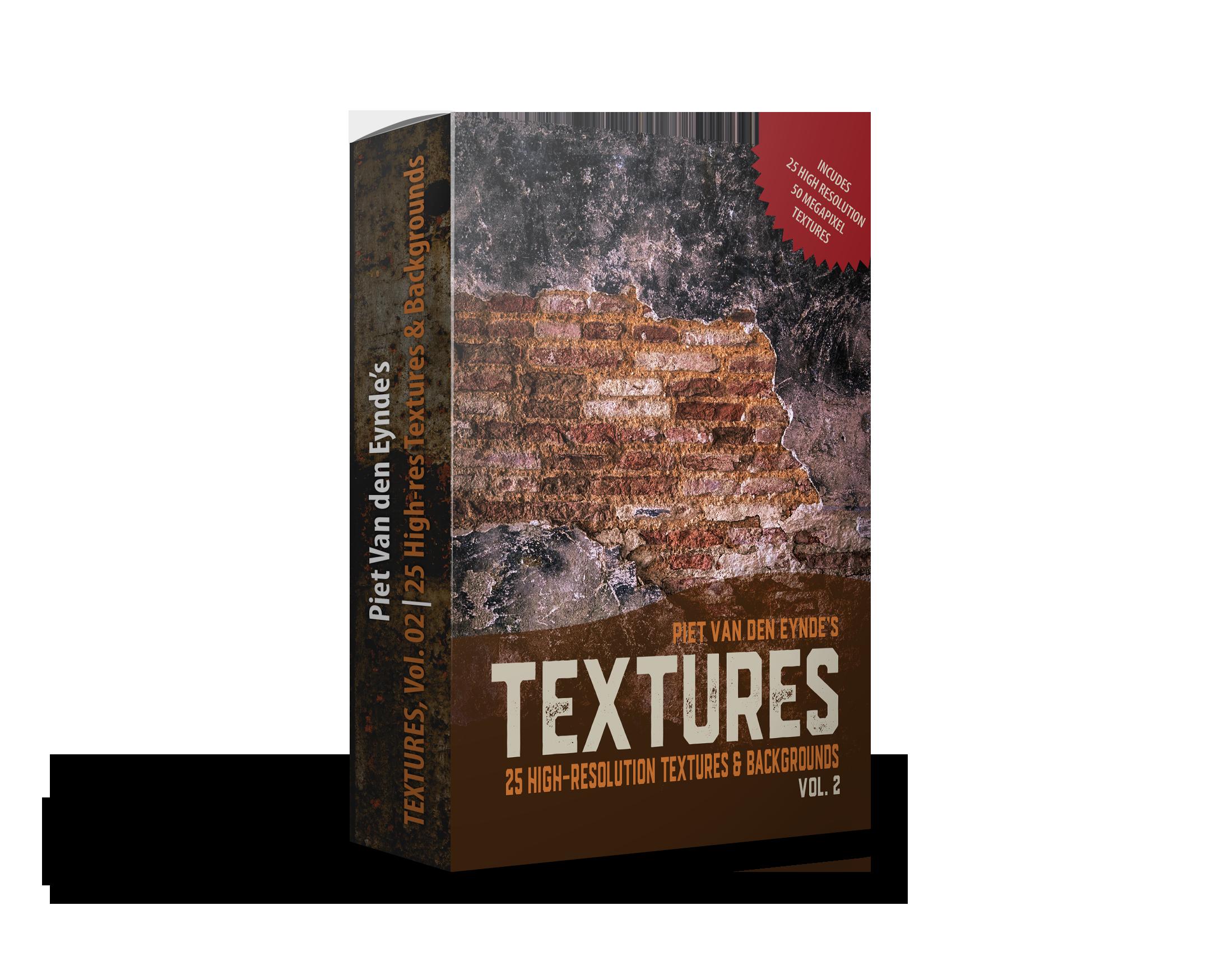 GRATIS: Piet's Textures, Vol. 02 - ✔︎ NIEUW Texture Pack✔︎ 25 hoge resolutie texturen en achtergronden✔︎ GRATIS bij aanschaf van de tutorial 'Tussen Licht & Lightroom vóór 31 mei 2019 (normale verkoopprijs: € 24.95)