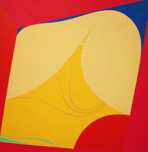 "Composition 2  Acrylic on board  16"" x 16"""
