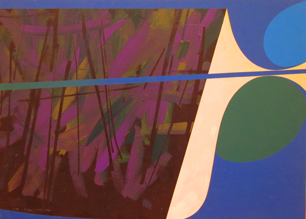 """Lines and Curves II  Acrylic on panel  24"""" x 32"""""""
