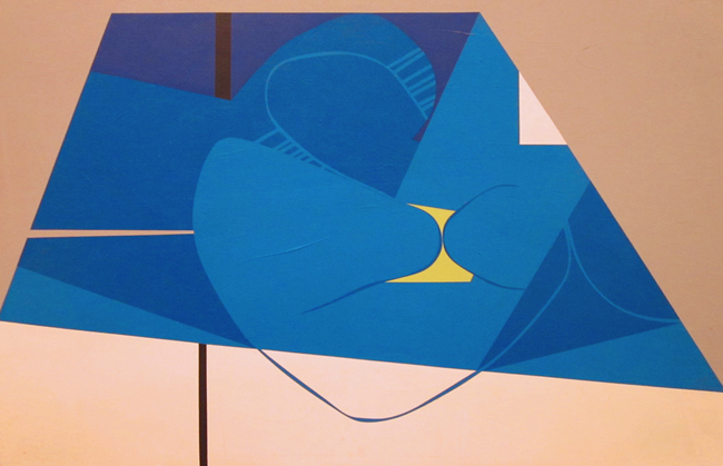 """Lines and Curves I  Acrylic on panel  32"""" x 48"""""""