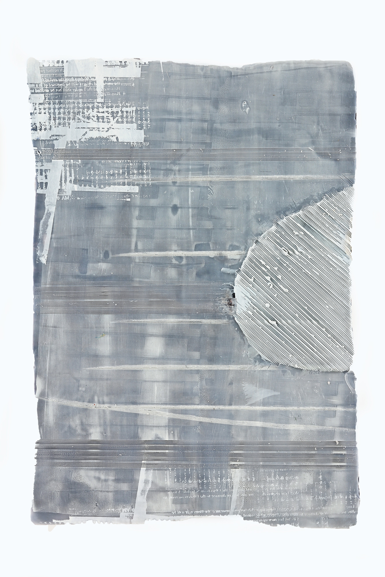 """Inland Steel No. 1  Encaustic & oil on shaped panel  17"""" x 14"""""""