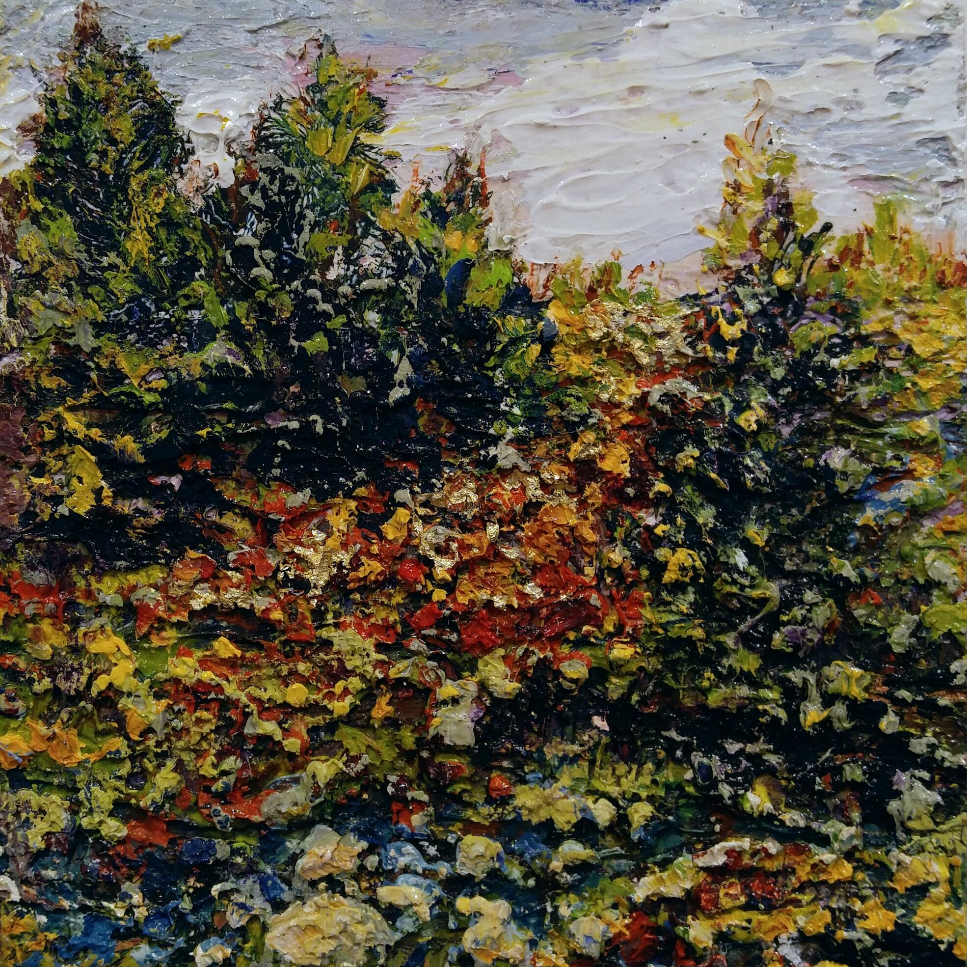"Mountain View  Oil on Canvas  8"" x 8"""