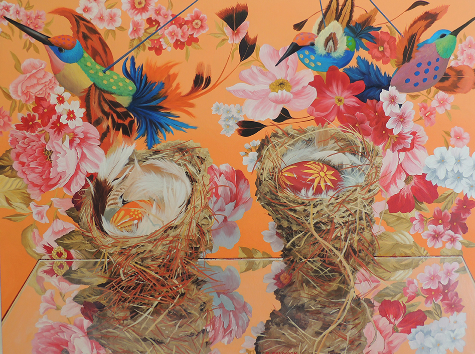 "Spirit Nest ll  Oil on canvas  30"" x 40"""