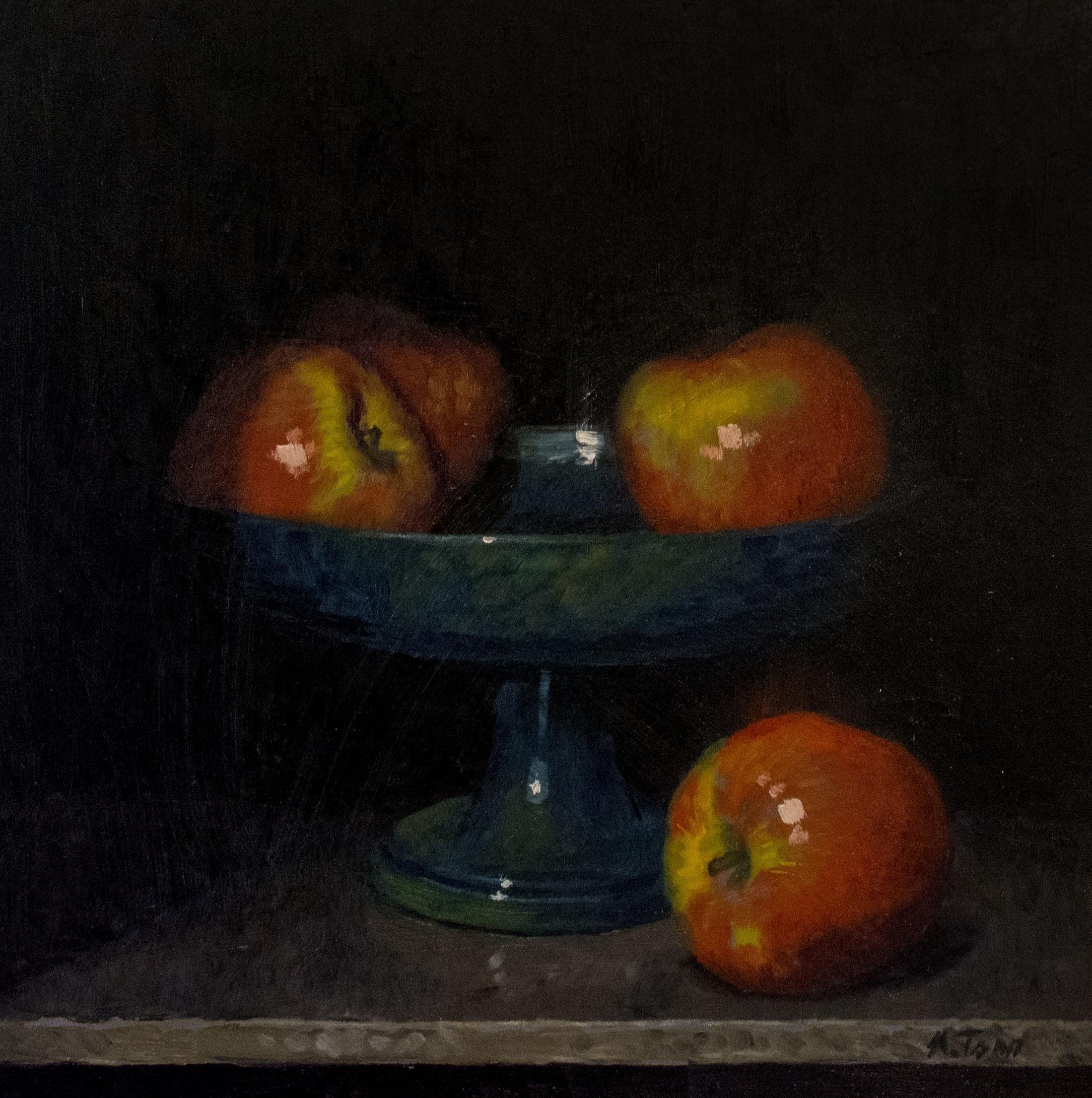"""Apples  Oil on panel  12"""" x  12"""""""