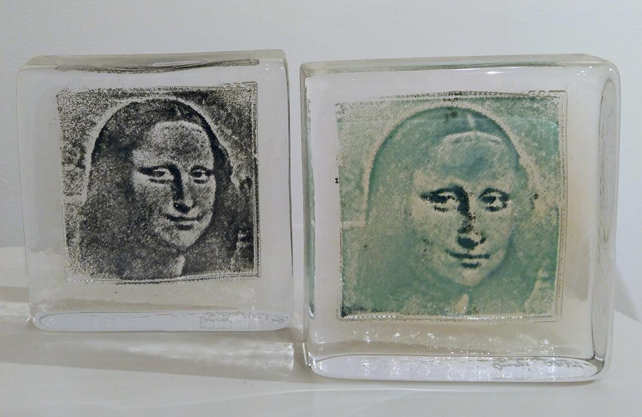 "Mona Lisa    Glass  5"" x  5"" x  1.50"""