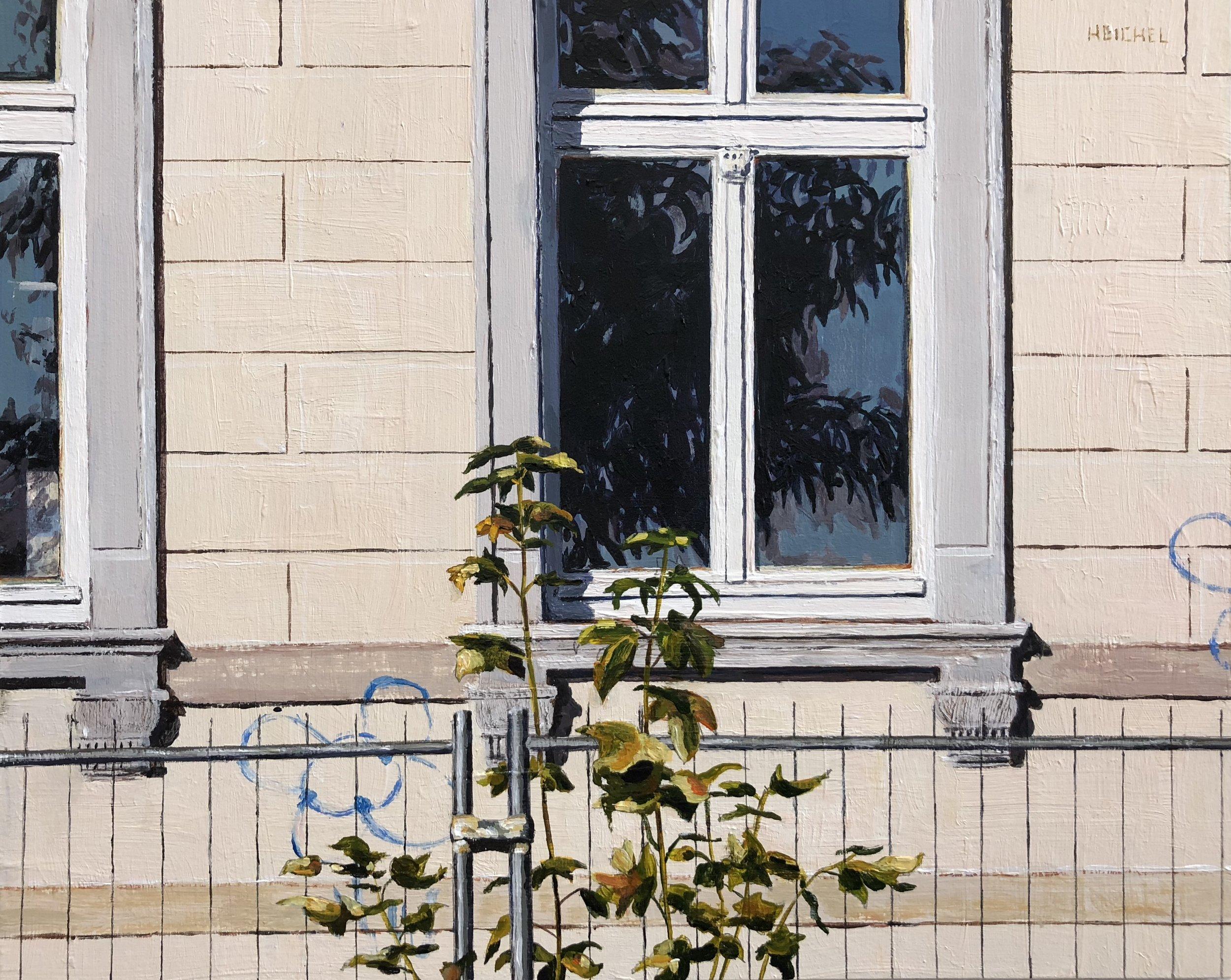 """Dresden Window V  Acrylic on panel  8"""" x 10"""""""