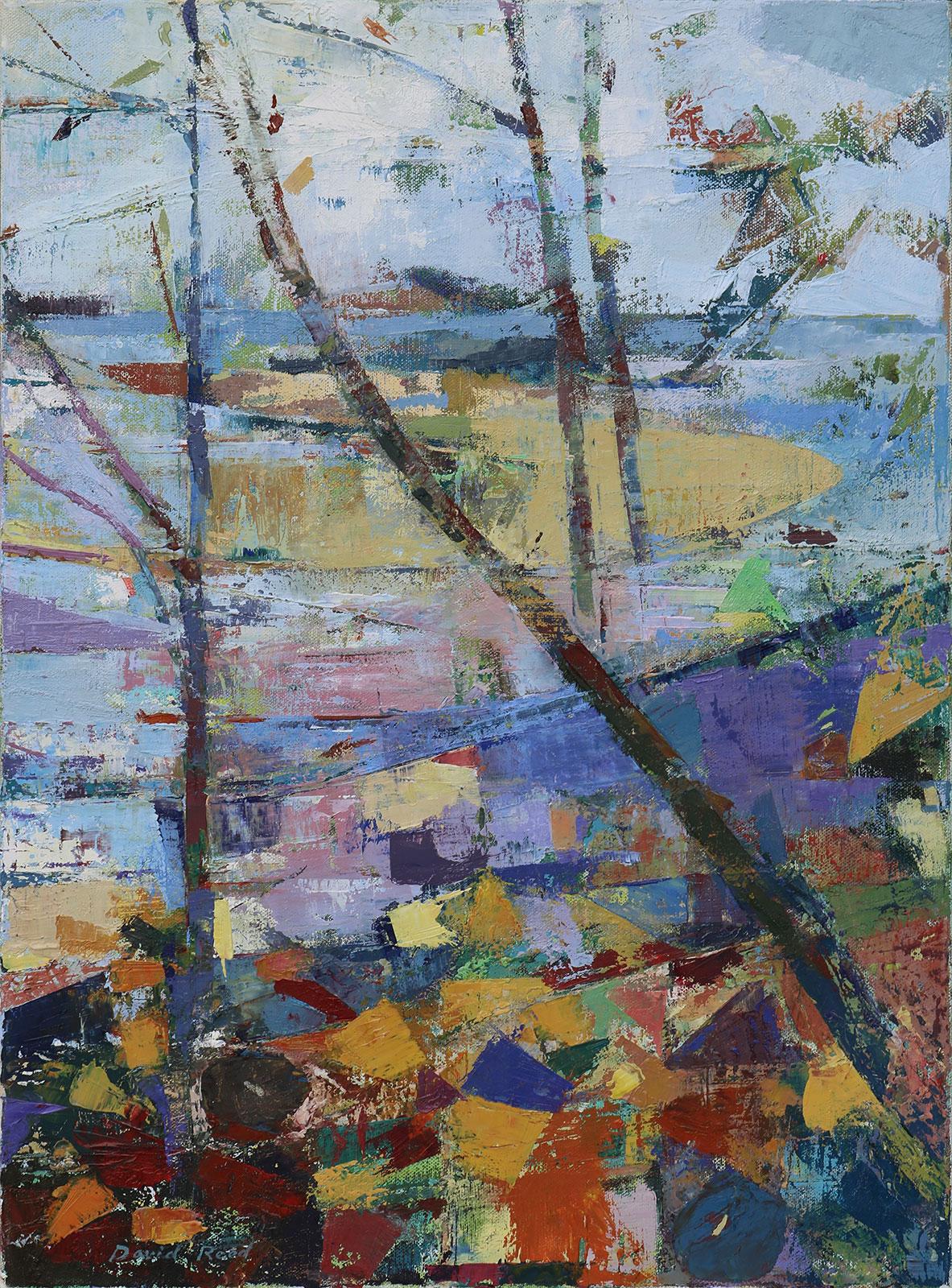 """Autumn to Winter  Oil on canvas  22"""" x 26'"""""""