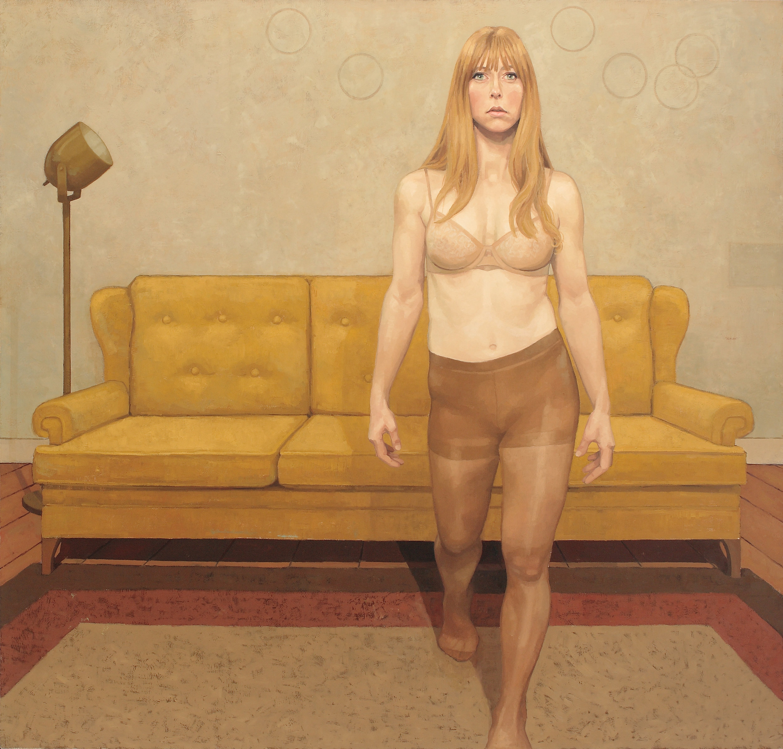 "Adrian Waggoner  What Elsa Said  Oil on canvas  68"" x 72"""