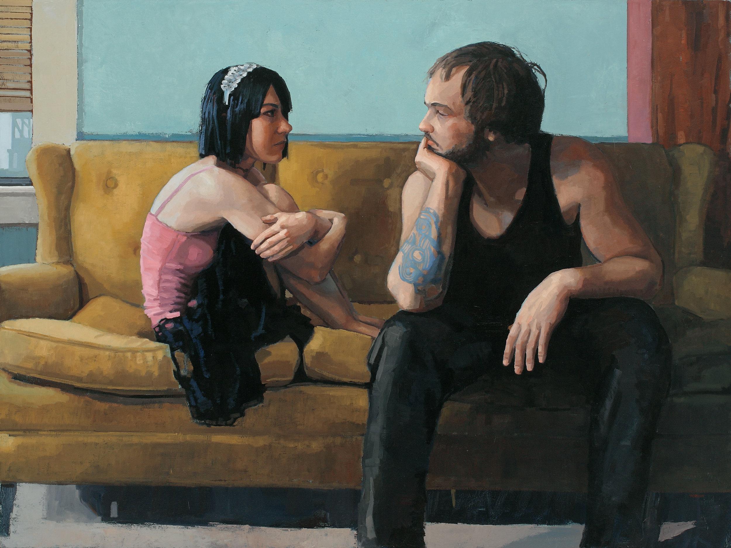 "Adrian Waggoner  Words  Oil on canvas  36"" x 48"""