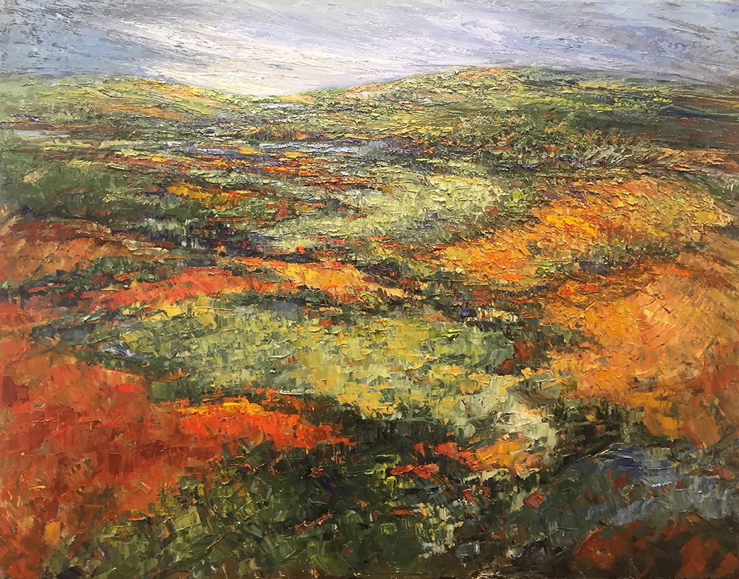"""Color In the Terrain  Oil on canvas  48"""" x 60"""""""