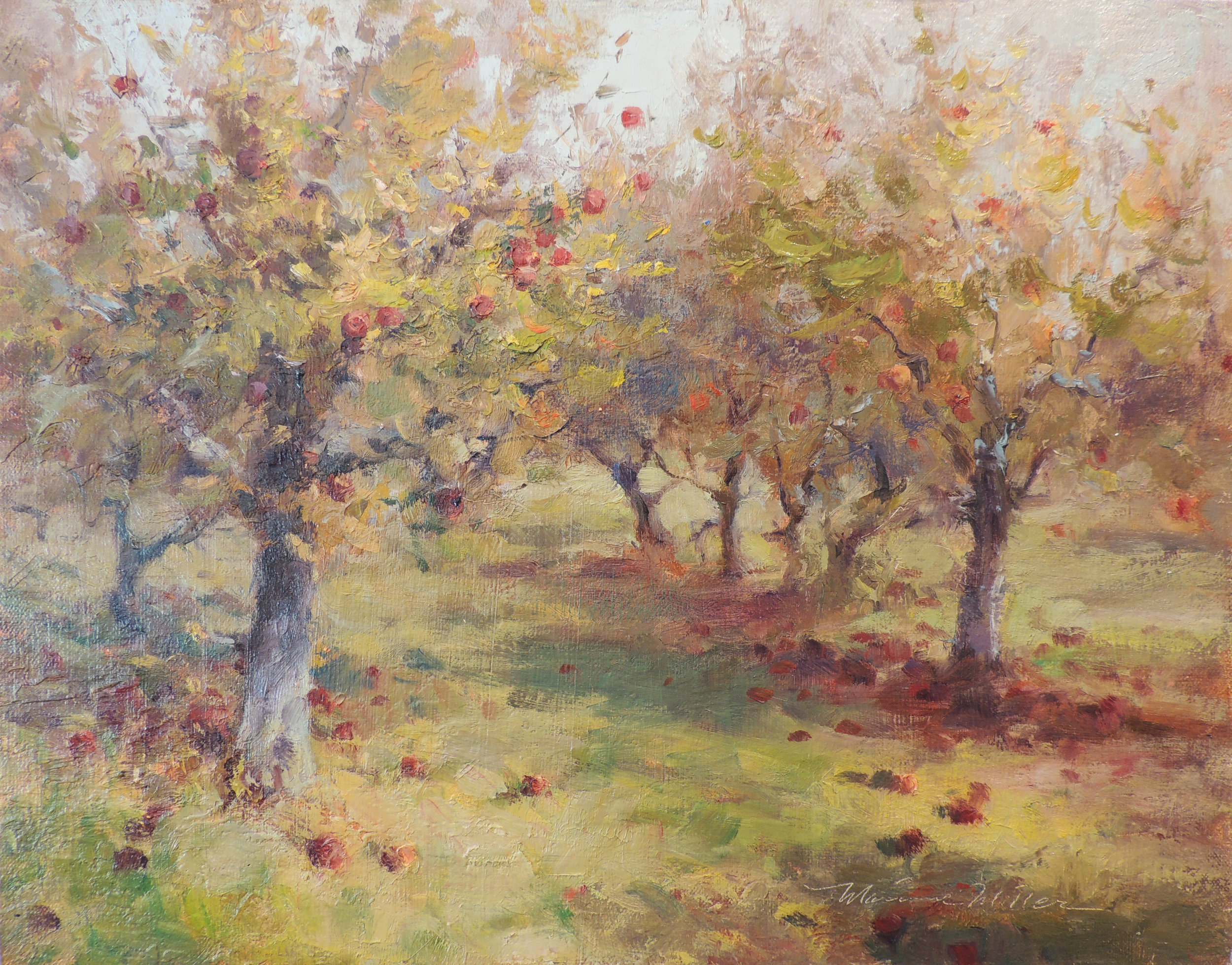 "Winter Orchard, Lynd Fruit Farm  Oil on panel  11"" x 14"""