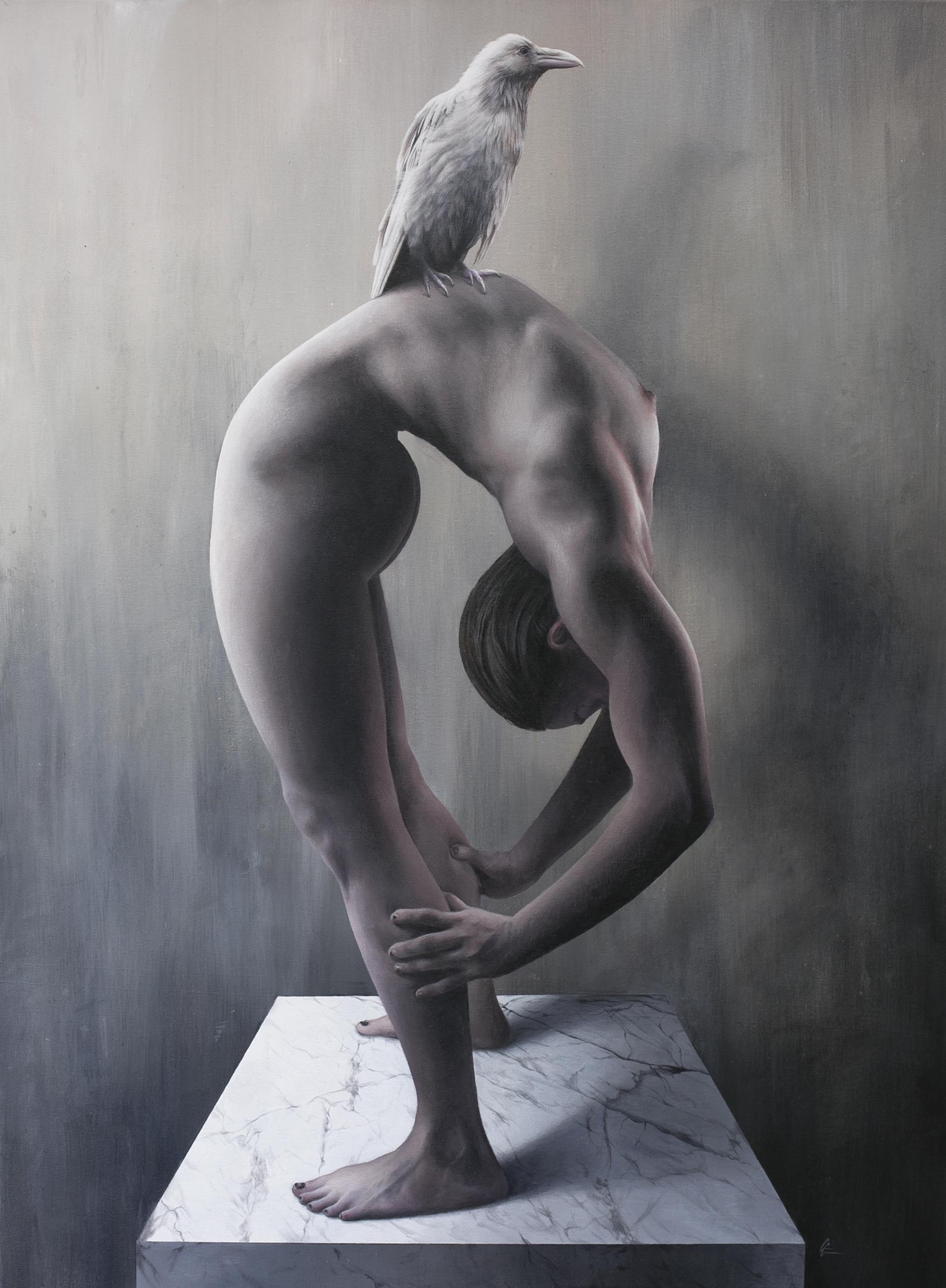 """Bending Over Backwards  Acrylic on canvas  40"""" x 30"""""""