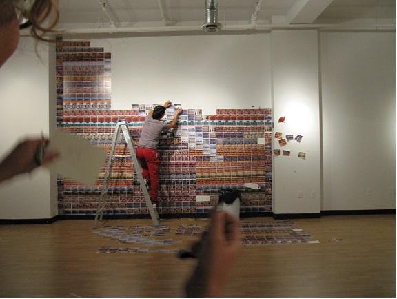 "Installing Chiko Chazunguza's exhibition ""Bounty"" at Gallery 101, Ottawa"