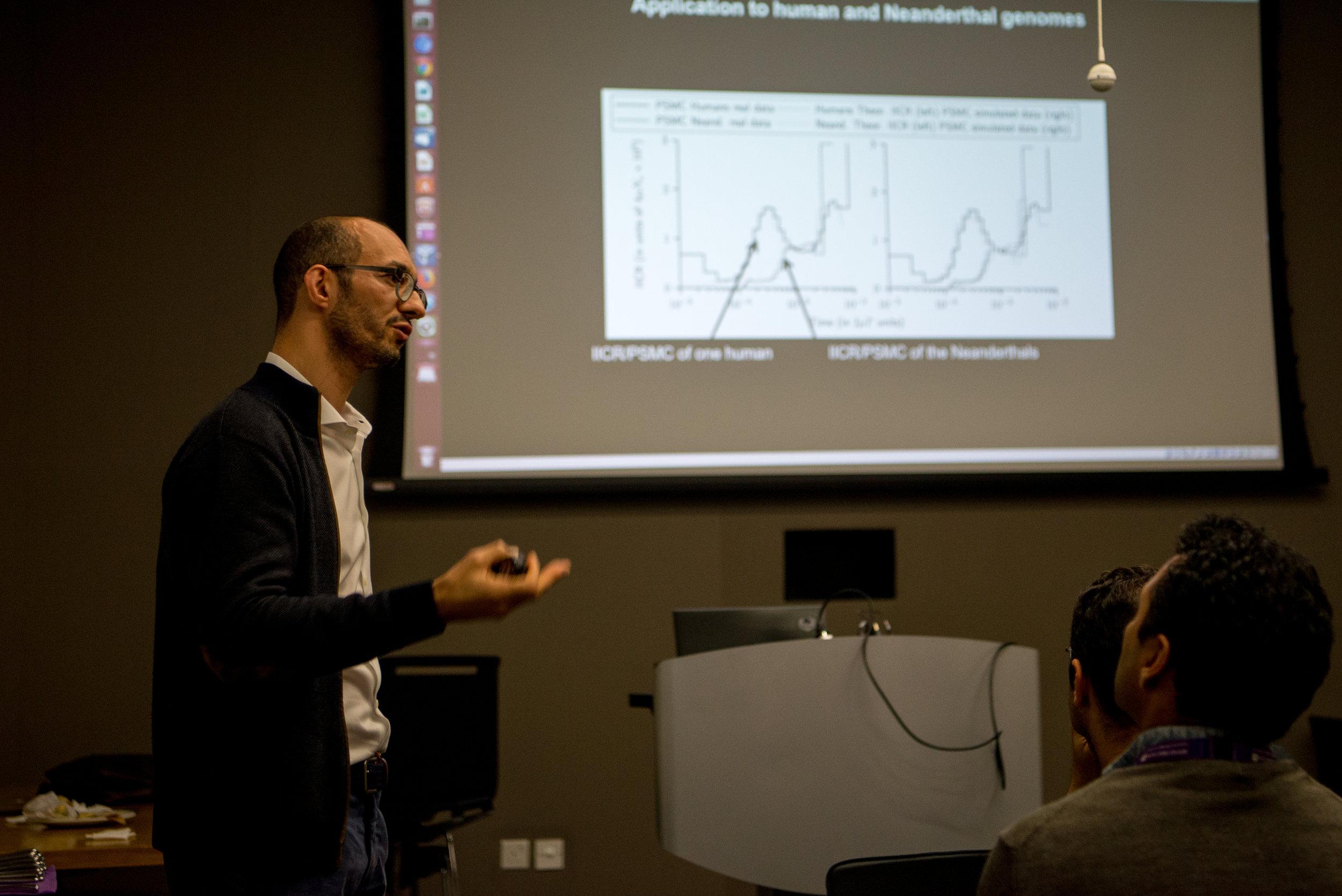 Dr. cHICKHI Gives a lecture during the Biology Seminar Series at NYU ABU DHABI