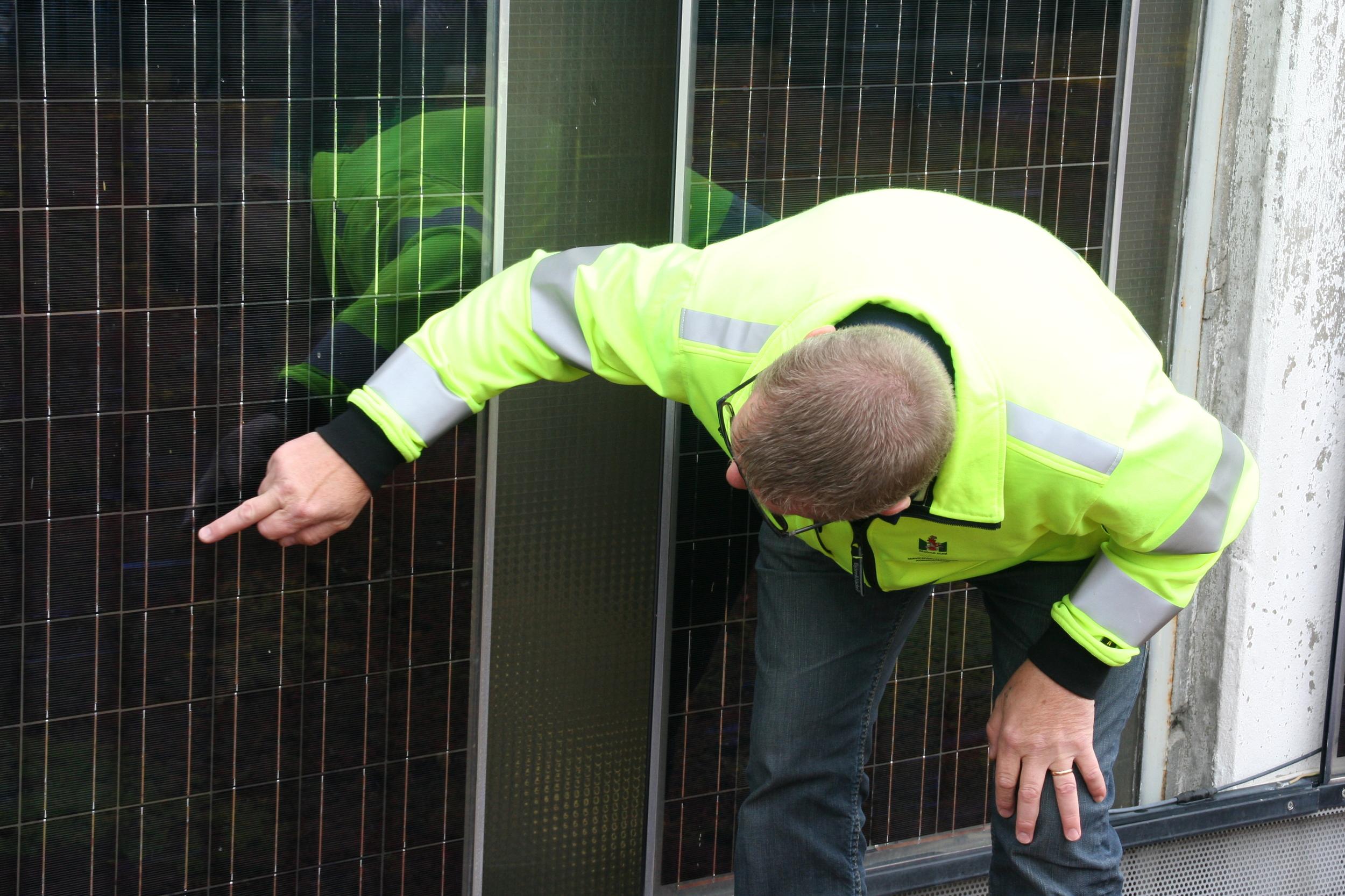 Solar facts and maintenance.Percy Borgström, Head of Solar maintainence at Malmö City Council.