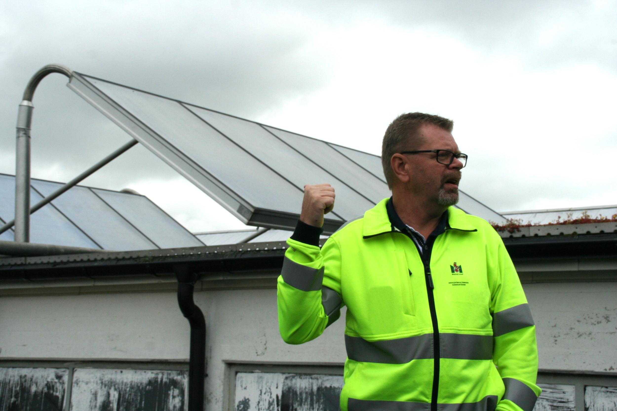 Solar facts and maintainence.Percy Borgström, Head of Solar maintenance at Malmö City Council.