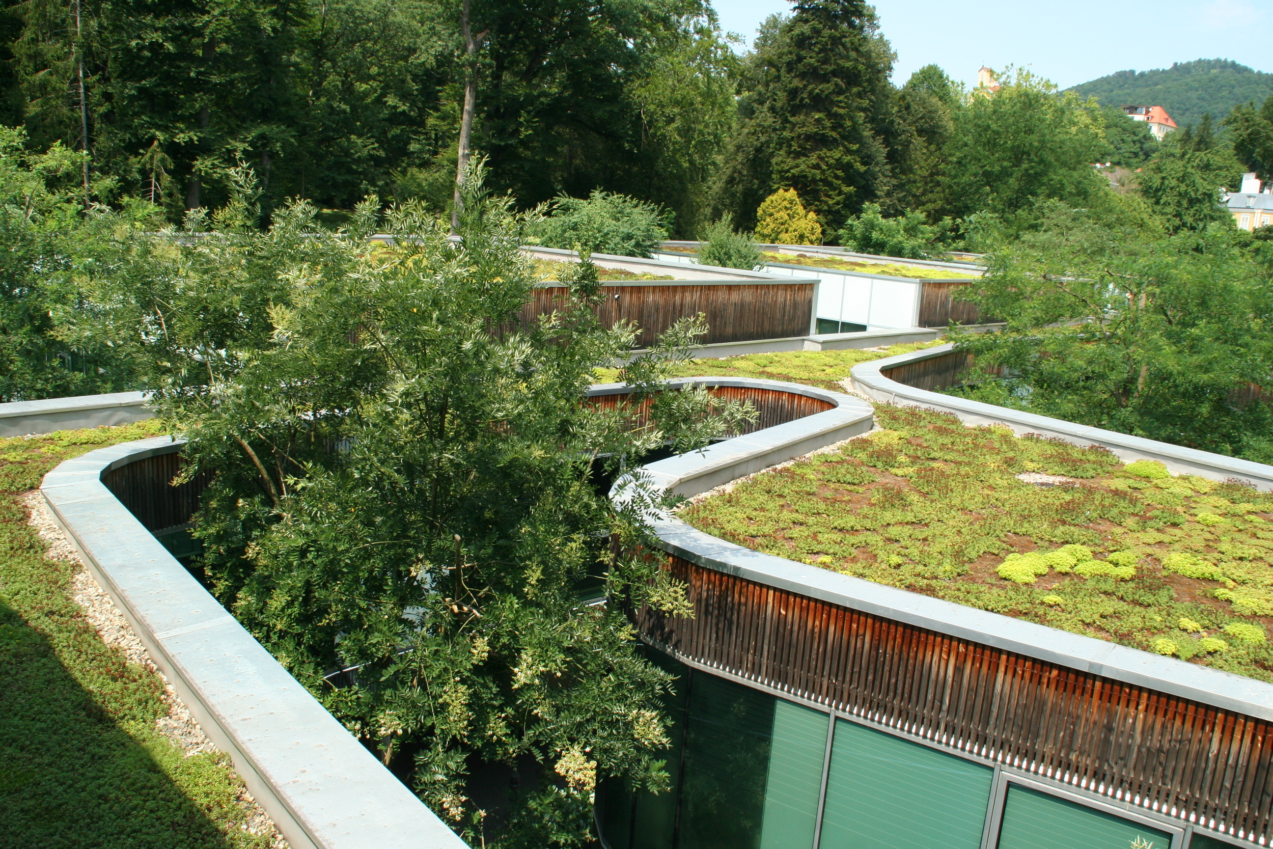 Das Kurhaus, Bad Gleichenberg, Austria. Green Roof.