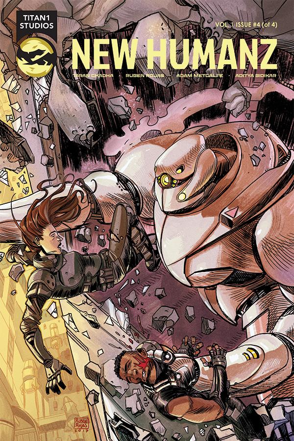 Written by Taran Chadha (Knight Guardians of Relativity), Art by Ruben Rojas, Colours by Adam Metcalfe (Lucas Stand, Kennel Block Blues), Letters by Aditya Bidikar (Motor Crush).