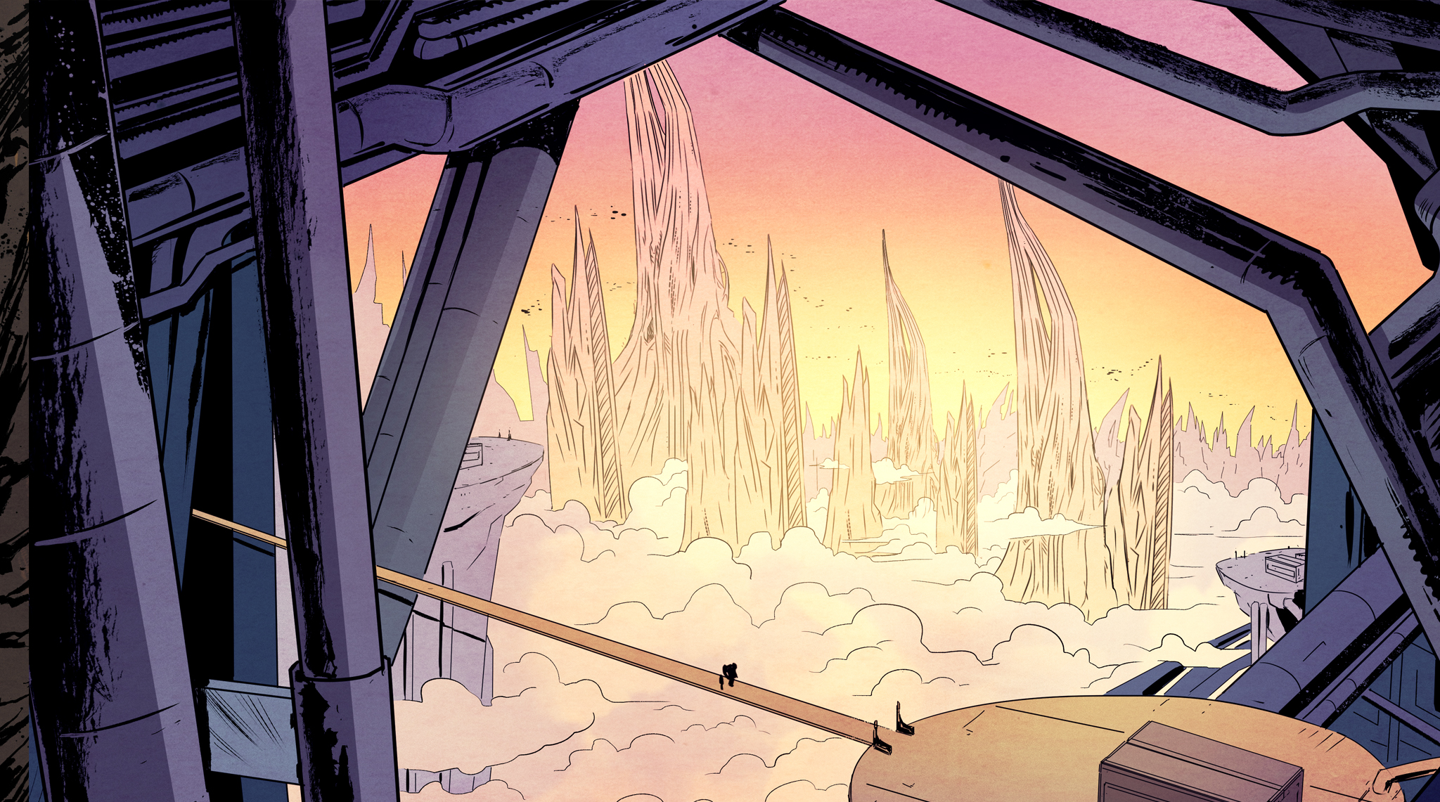 Artist Abel Garcia and Marvel's Irma Kniivila (Ms. Marvel, Deadpool) combine to create a stunning visual spectacle for Gareth R. Roberts' world.