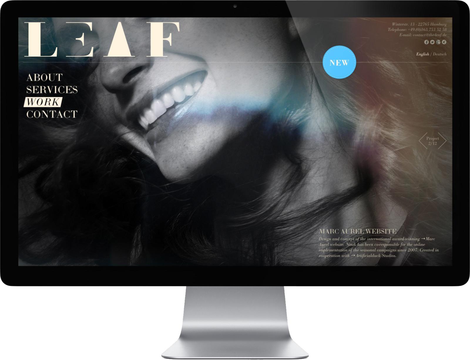 Leaf Creative Studio Website