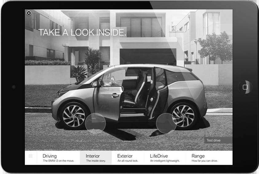 BMW i3 iAd Campaign  Interactive / Mobile  → Showcase