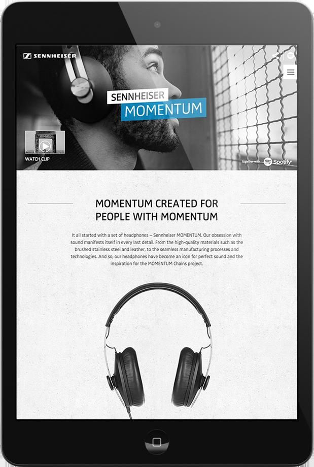 Sennheiser Momentum Campaign  Content- & Online-Campaign  → Showcase