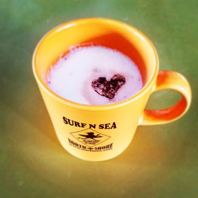#surfandsea showing me the love this morning in my coffee, needed a dash of both today, actually so #mahalos !  #hawaii #aloha #northshore #coffee