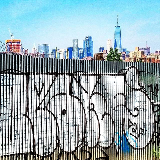 New hood for the week. Refreshing change of pace from sea and sand #brooklyn #brklyn #williamsburg #nyc #hipsterville #freedomtower #urban #landscape #city #concretejungle